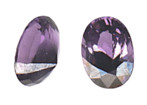 Asymmetrically Cut Gemstone.