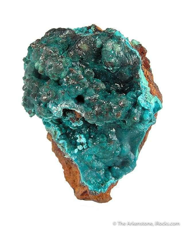 rosasite crystal specimen - gem formation