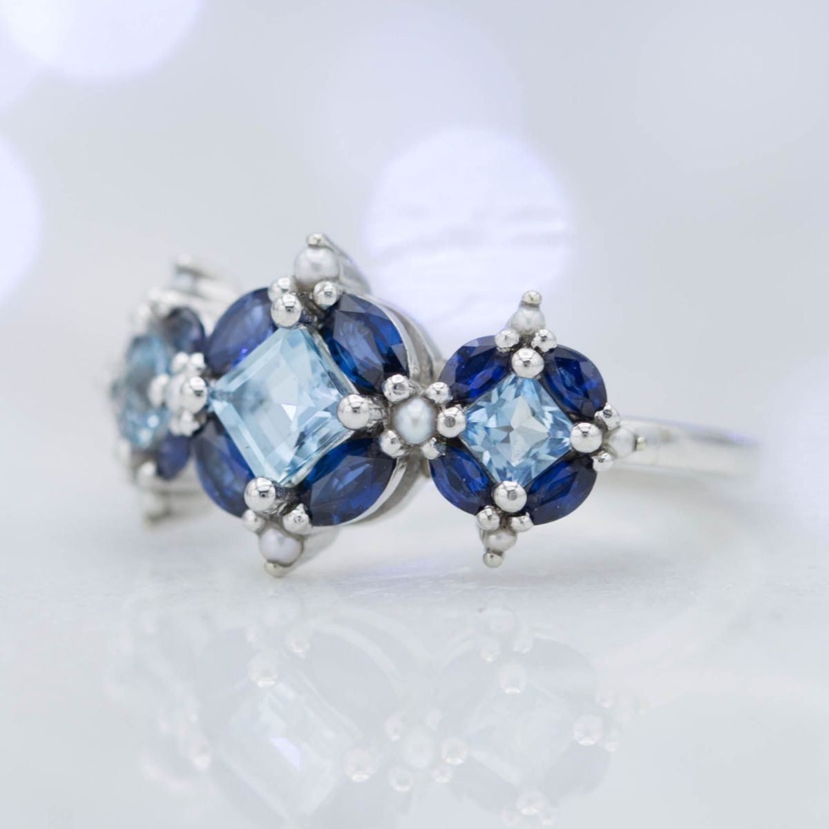 and ring image sapphire gold aquamarine white diamond jewellery