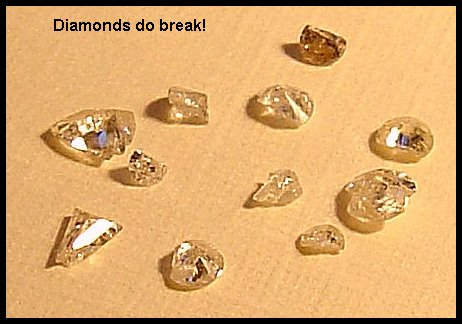 Clarity grading diamonds – diamonds do break - diamond rating