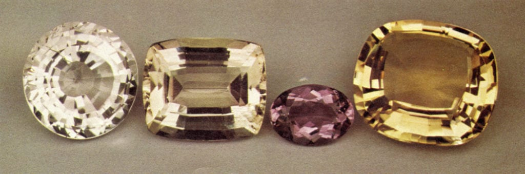 faceted scapolites - various sources
