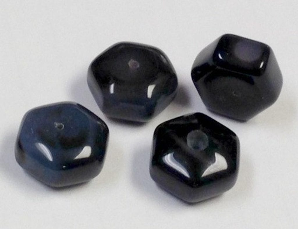 dyed, vintage black onyx spacer beads
