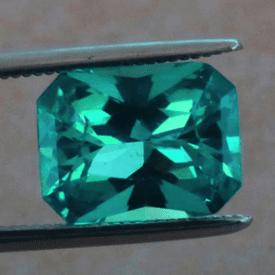 neon blue-green apatite