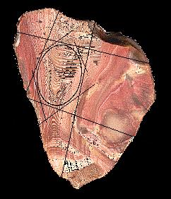 Linhas de esboço e serra - corte cabochão