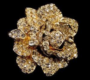 Pave Set Rose Earrings