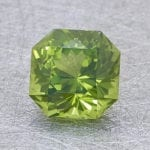 peridot polishing - fancy square brilliant cut