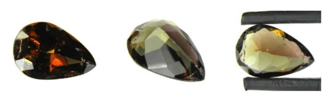 pear-cut axinite - Pakistan