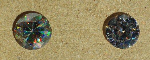 diamond look-alike gems - rutile and CZ