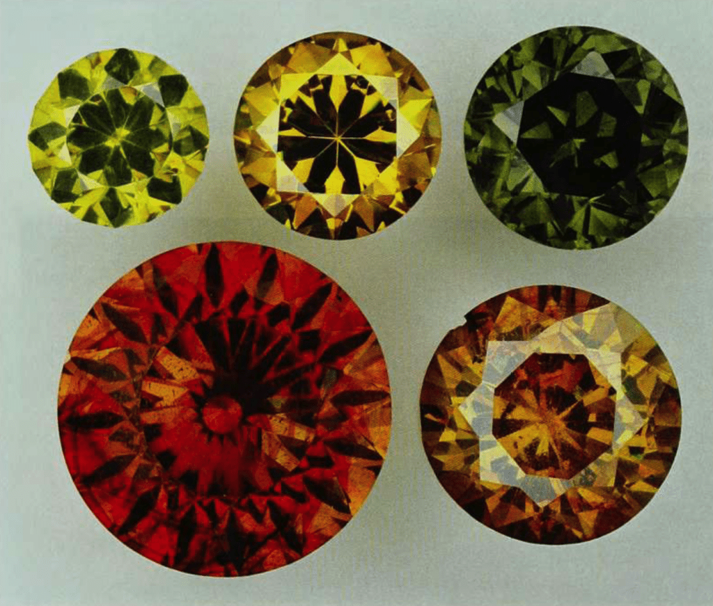 sphalerite - faceted collection