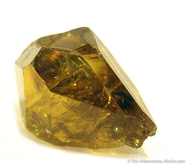 twinned titanite/sphene - gem formation