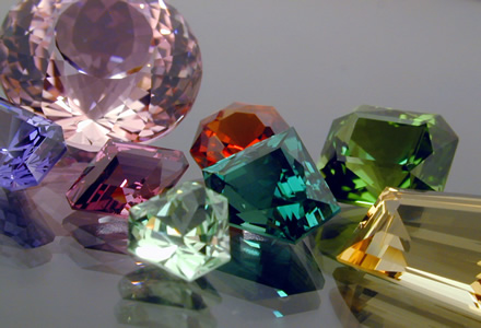A Selection of Cut Gemstones by Daniel Stair of customgemstones.com