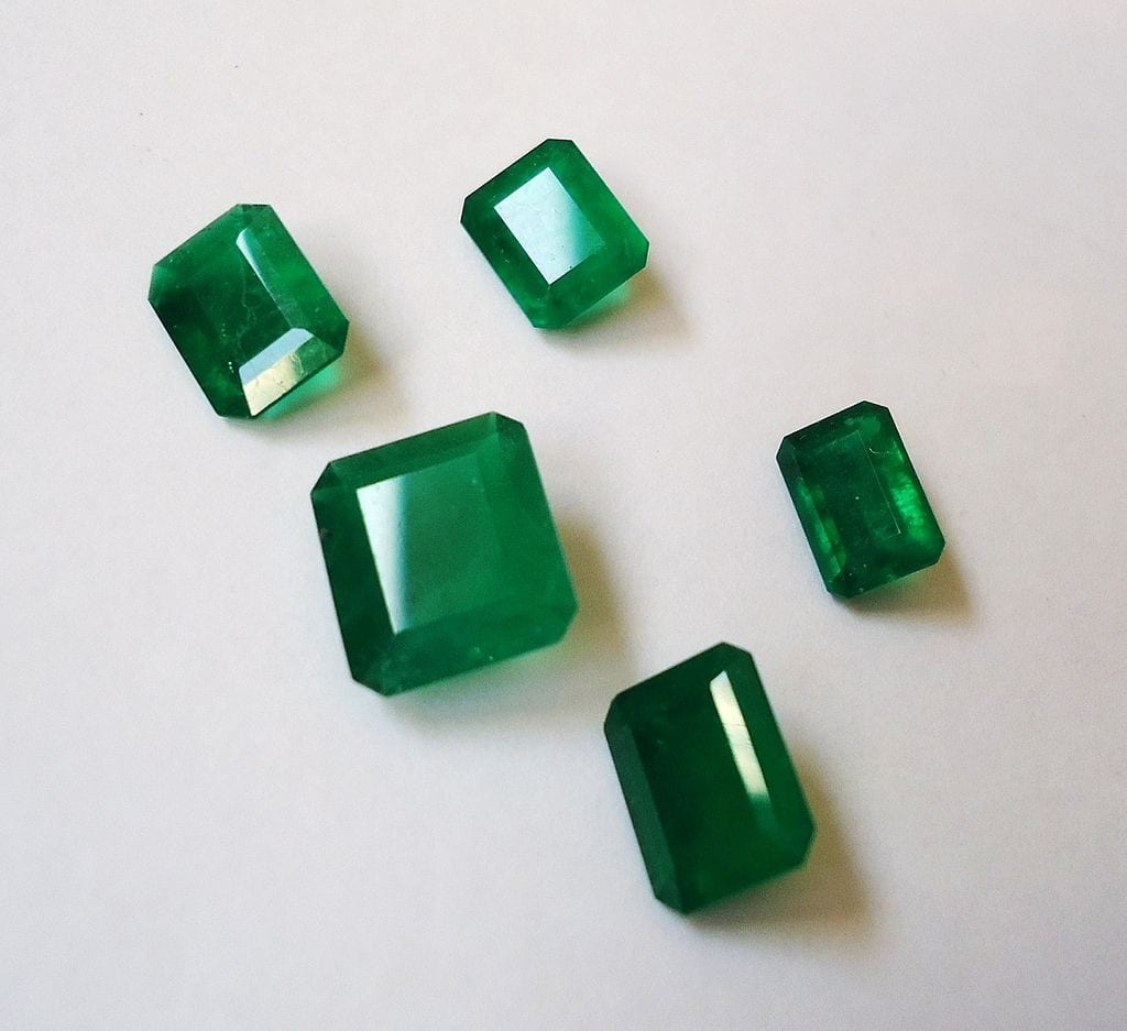"""Colombian Emeralds"" by Mauro Cateb is licensed under CC By-SA 3.0"