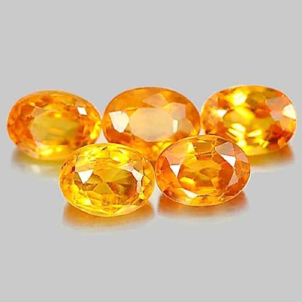 orange sapphires - Songea, Tanzania