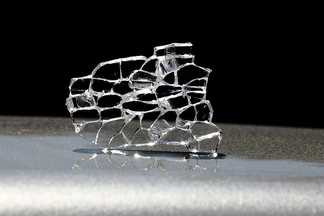 """The Shape of a Broken Glass 2"" by zeevveez is licensed under CC By 2.0"
