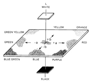 Figure 5A. Lab color space as conceived by Richard S.Hunter