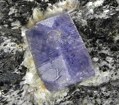 blueish purple sapphire crystal - Madagascar