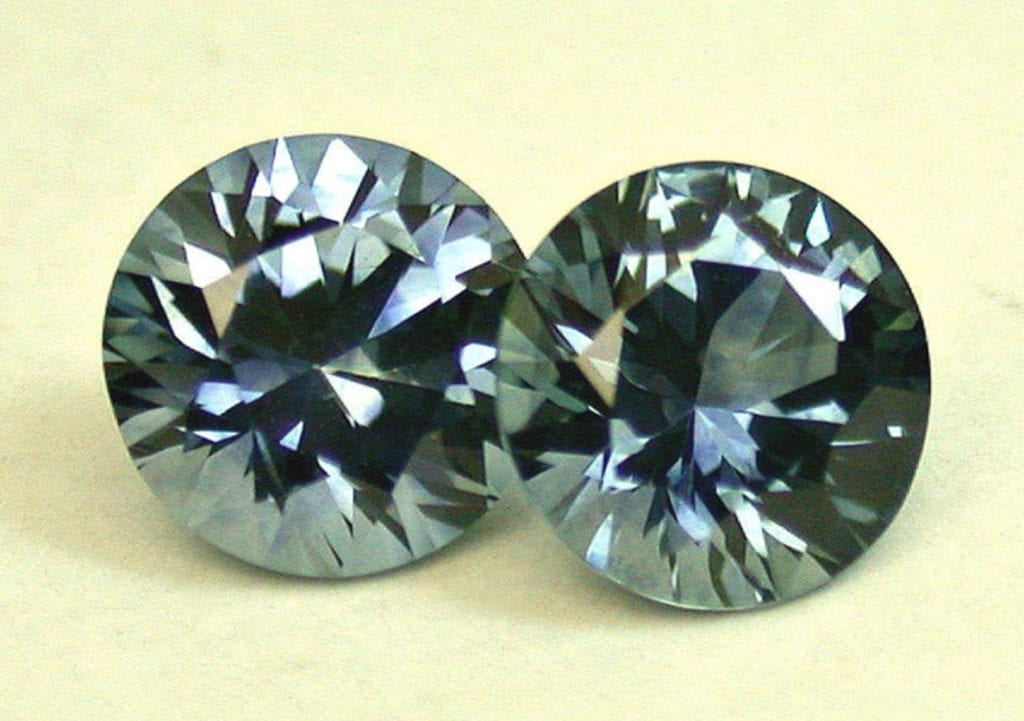 Rock Creek sapphires - matched pair