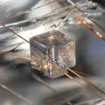 Gemstone Inclusions - Dolomite and Rutile in Quartz