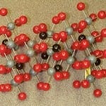 molecule model - gemological formulas