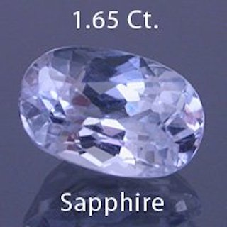 sapphire 3 before - repaired and recut gems