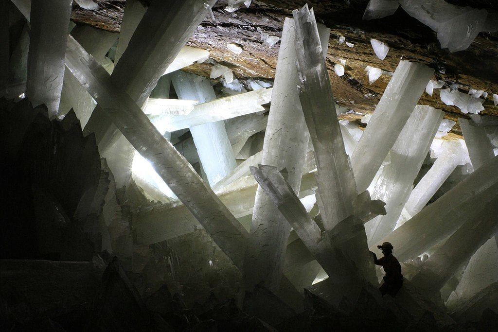Cave of the Crystals, giant gypsum crystals - Naica, Mexico