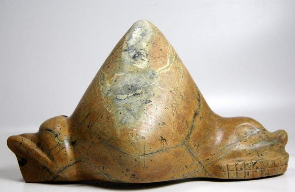 Taino zemi sculpture - serpentine rock