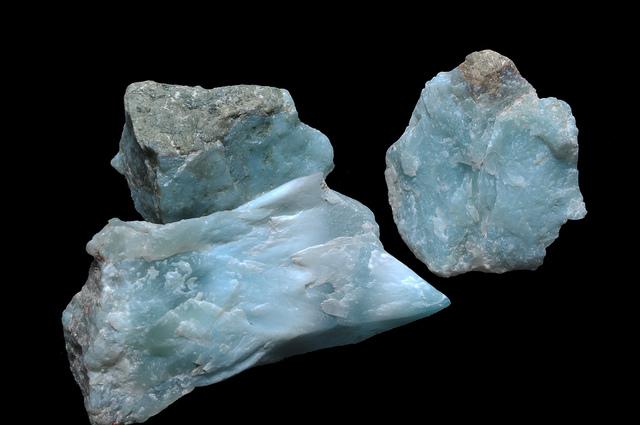 Larimar (pectolite) rough - Dominican Republic