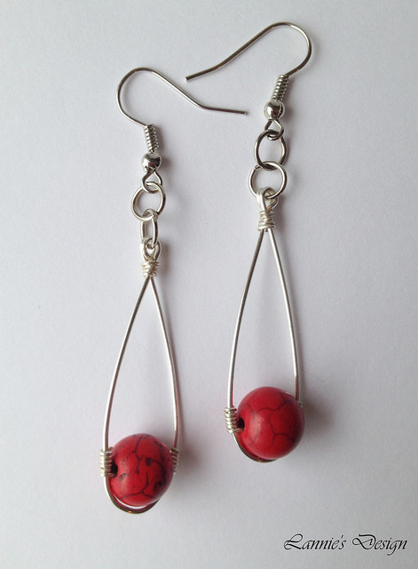 magnesite - earrings