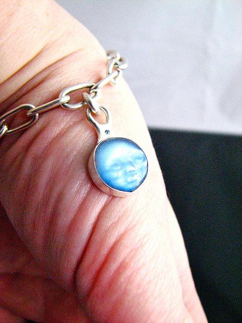 moonstone symbolism - carved bracelet