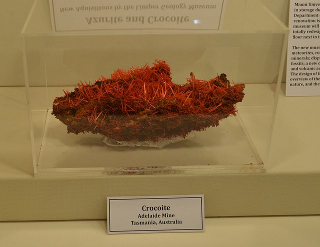 crocoite display - GeoFair