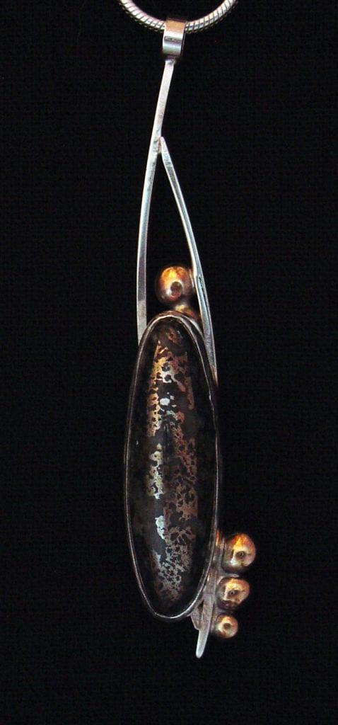 mohawkite pendant - algodonite