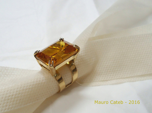 topaz symbolism - topaz and gold ring