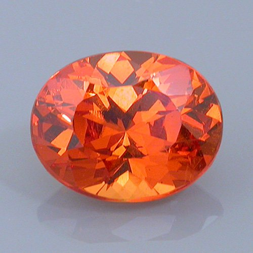 spessartite garnet 26 after - repaired and recut gems