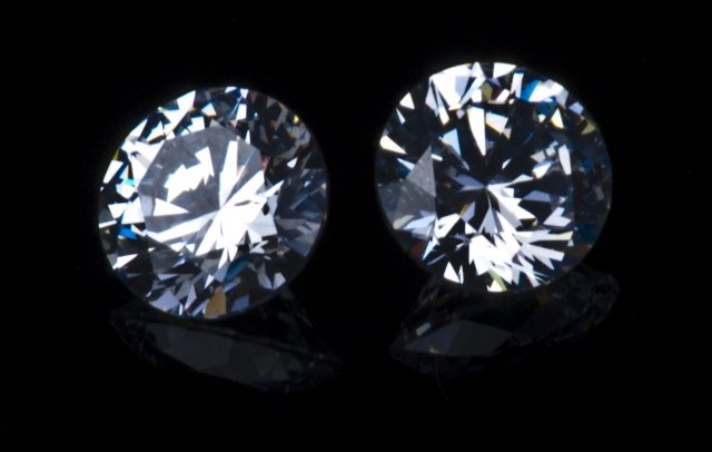 two round diamonds
