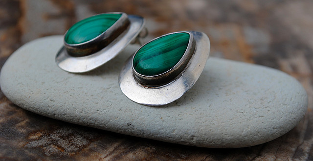malachite symbolism - earrings