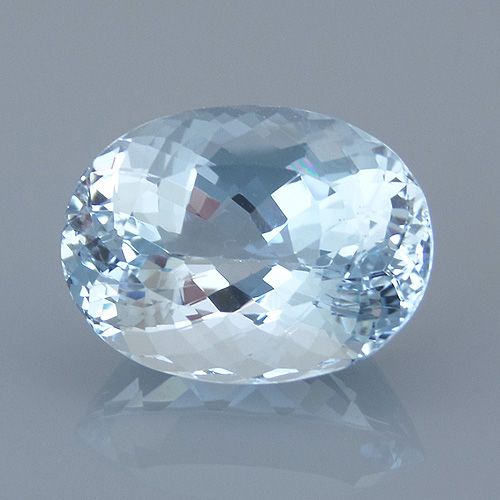 aquamarine 53 before - repaired and recut gems
