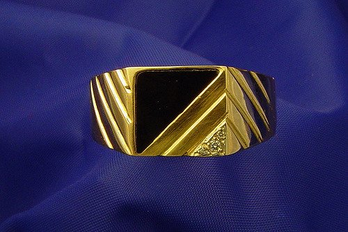 onyx symbolism - onyx and diamond ring