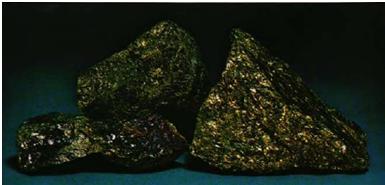 BORNITE: Butte, Montana, (specimens 2 inches across)