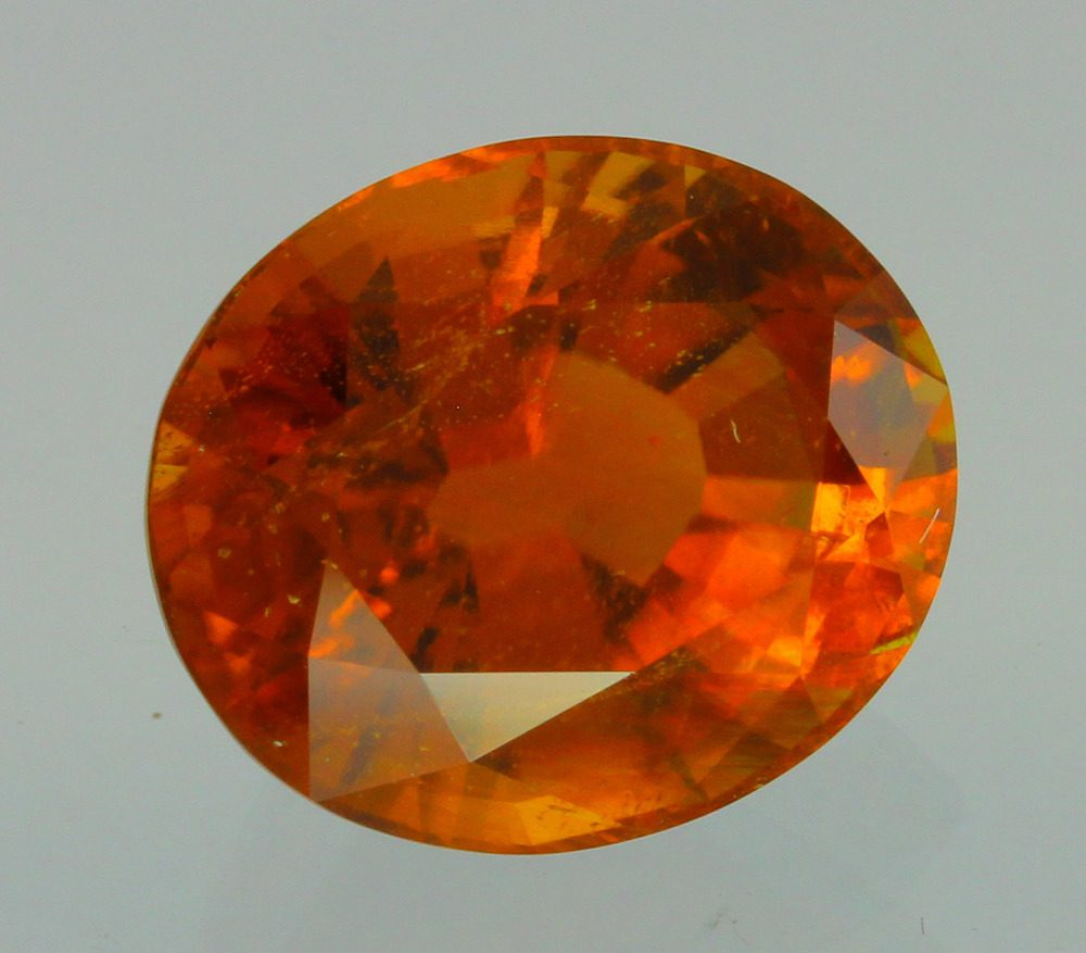 oval-cut clinohumite - Afghanistan