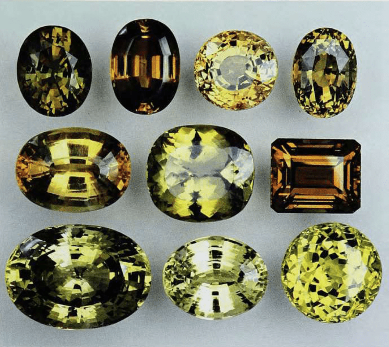 Chrysoberyl - faceted gems