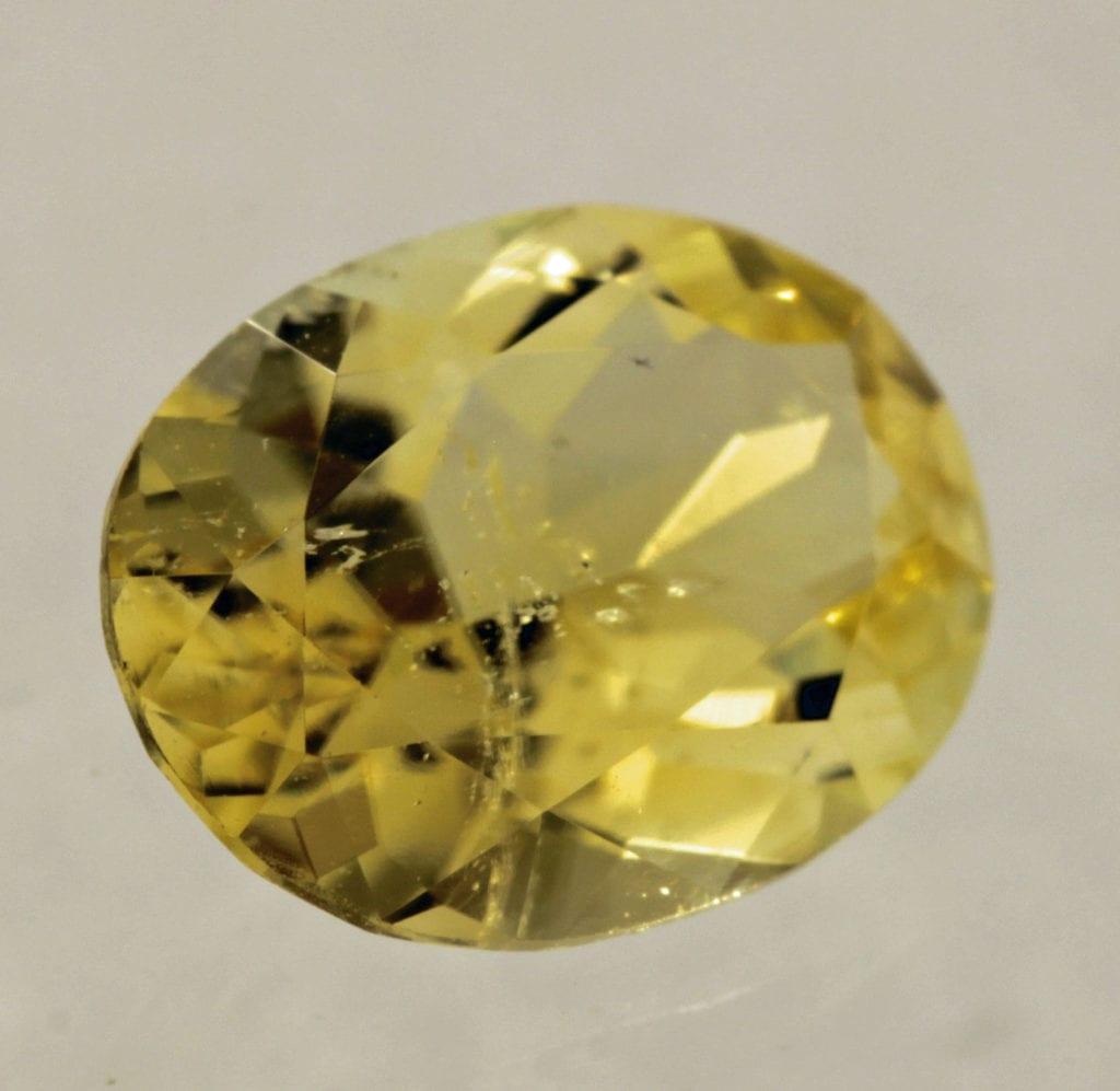 yellow datolite - oval cut, Russia