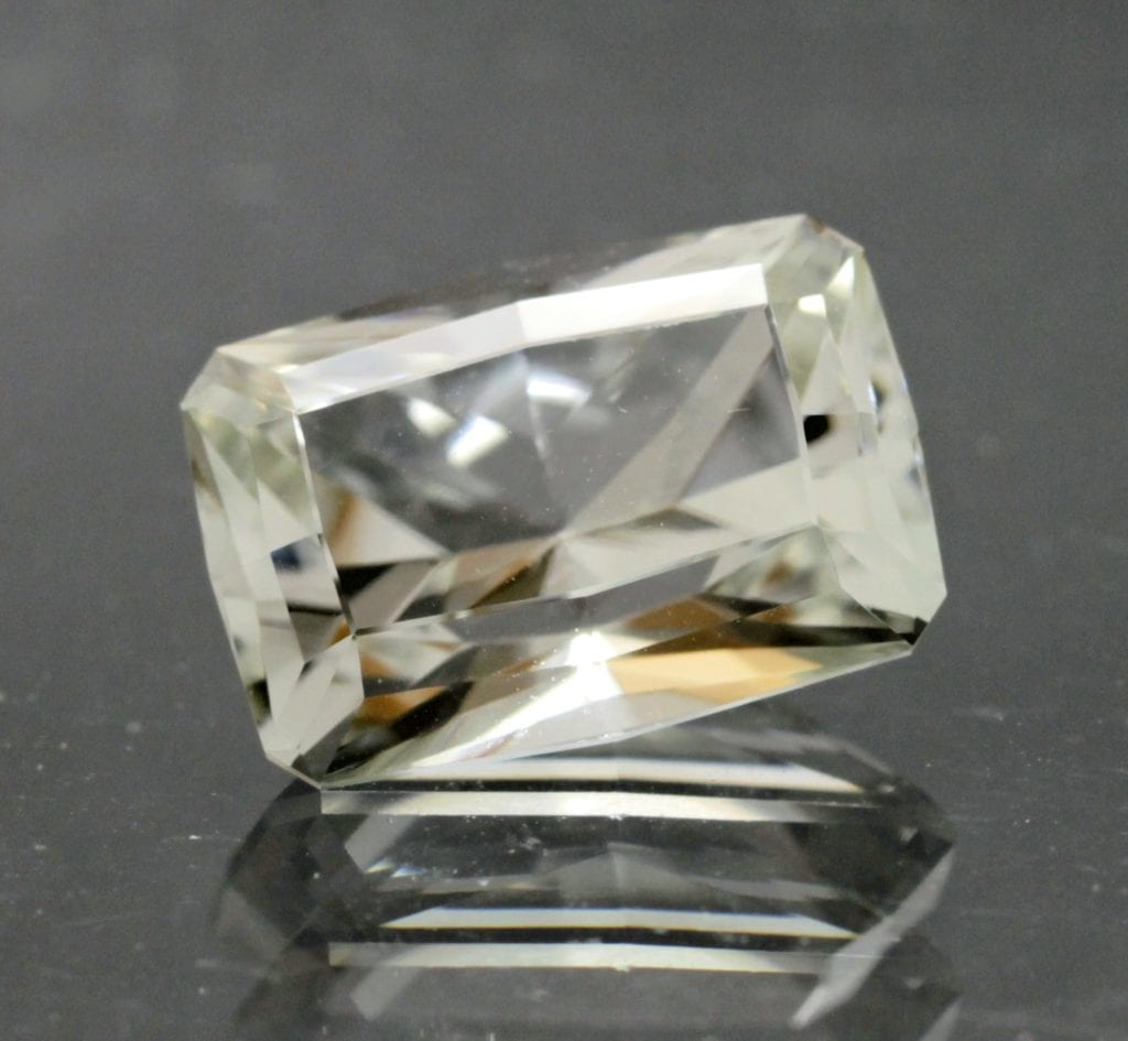 datolite - cushion cut, Russia