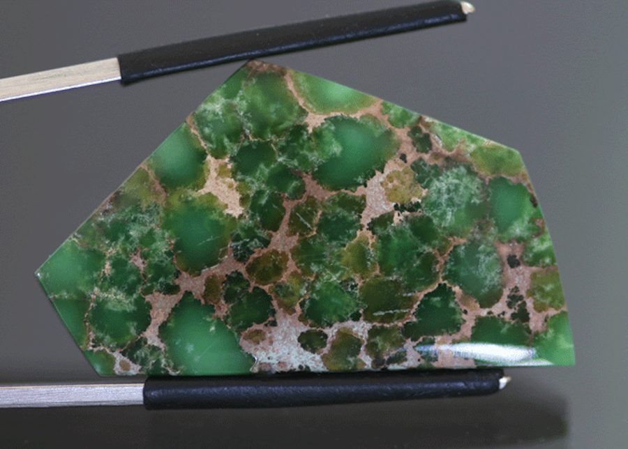 freeform variscite cab - Damele Mine, Nevada