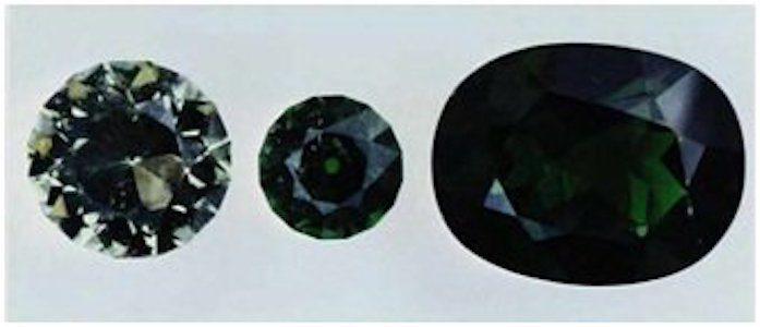 faceted diopside gems