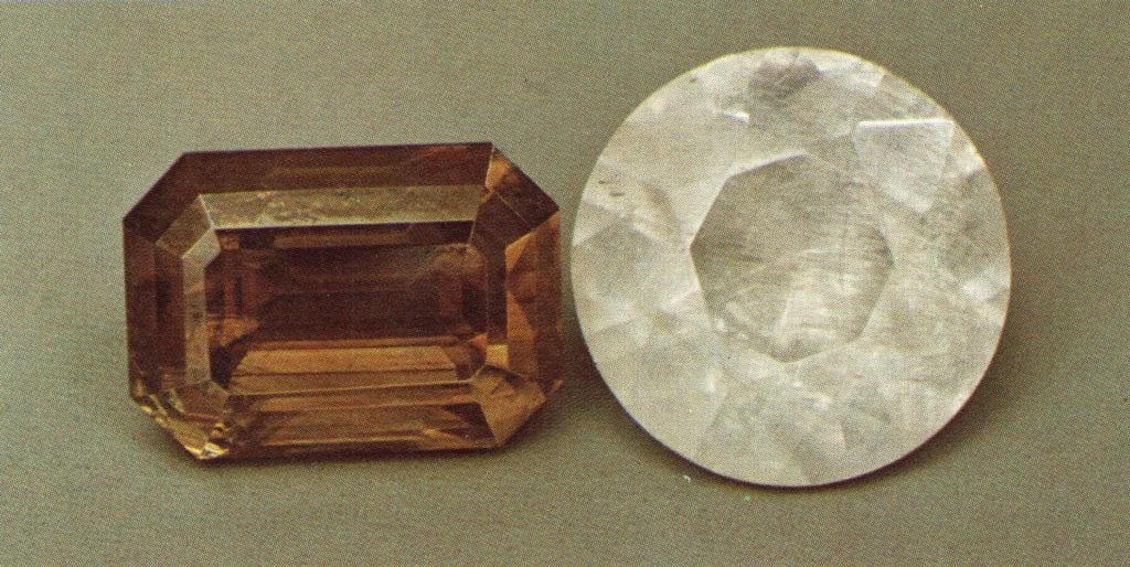 faceted cerussite gems - Namibia