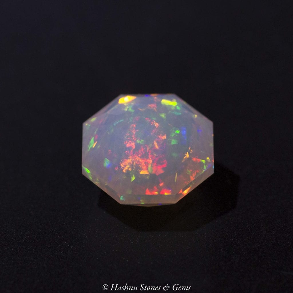 faceted Welo opal - opal symbolism