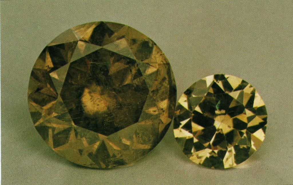 faceted cassiterite gems - Bolivia