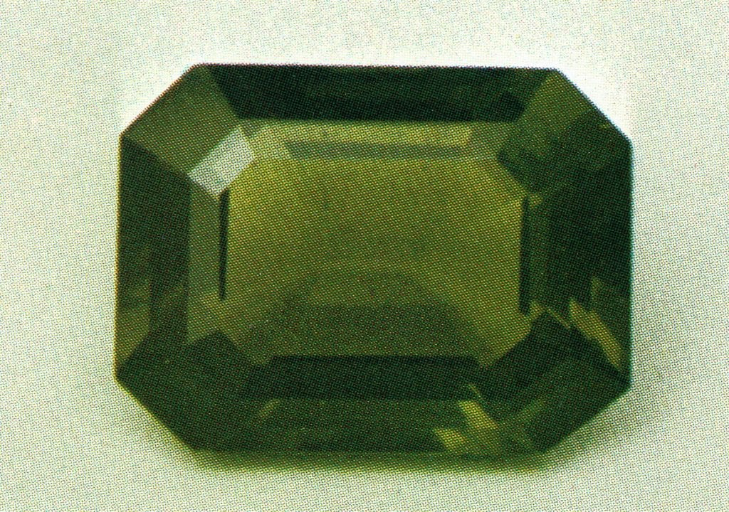 faceted ekanite - Sri Lanka