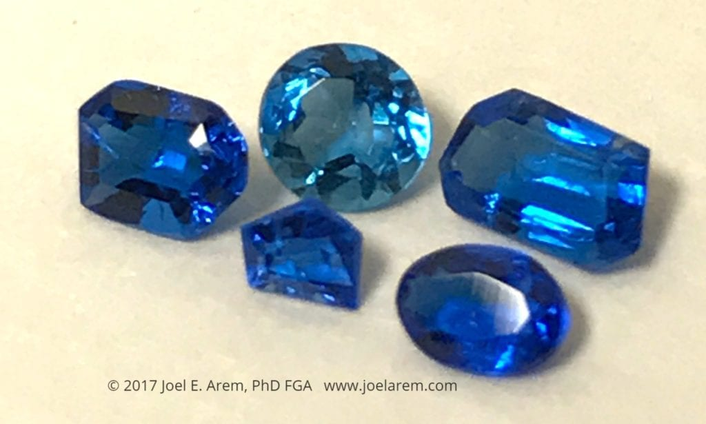 faceted haüyne gemstones