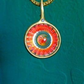 realgar - wheel of light pendant